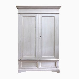 Antique Italian White Wardrobe