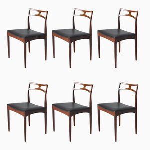 Danish Model 94 Dining Chairs by Johannes Andersen for Christian Linneberg, 1960s, Set of 6