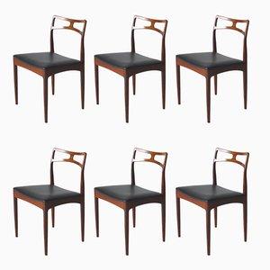 Dänische Modell 94 Esszimmerstühle von Johannes Andersen für Chr. Linneberg, 1960er, 6er Set