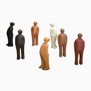 The Visitor Keramikfiguren von Guido Deleu für Cores da Terra, 1990er