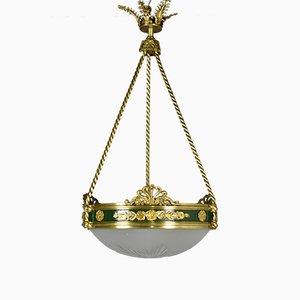 Französische Empire Deckenlampe aus Bronze, 19. Jh.