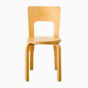 Vintage Wooden Model 66 Chair by Alvar Aalto for Artek