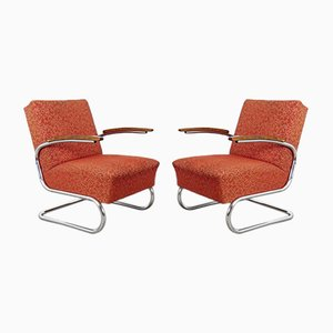 Bauhaus Tubular Armchairs, 1930s, Set of 2