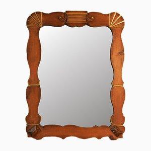 Miroir Art Déco Vintage en Bois et Dorure