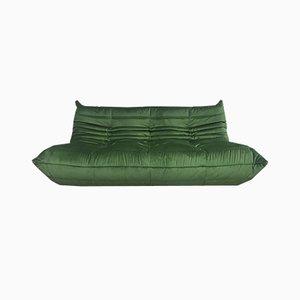 Großes waldgrünes Mid-Century Togo Sofa von Michel Ducaroy für Ligne Roset, 1970er