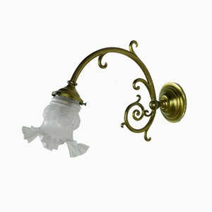 French Brass Wall Sconce, 1950s