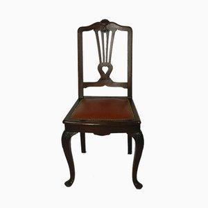 Chaises d'Appoint Antiques en Acajou, Set de 2