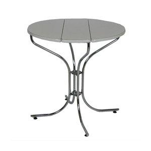 Tavolo allungabile in metallo cromato e bianco, anni '70
