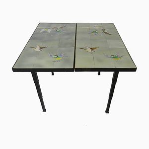 French Conservatory Tiled Table, 1960s