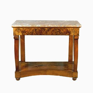 19th-Century French Walnut Console Table