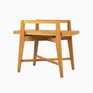 Table Basse Convertible Vintage en Chêne, 1950s