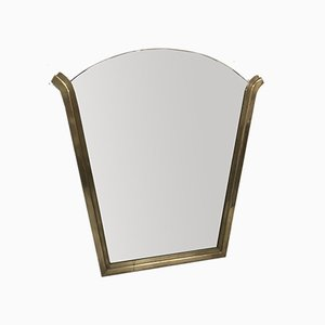Art Deco Brass Mirror, 1920s
