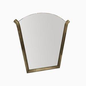 Art Deco Spiegel mit Messingrahmen, 1920er