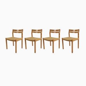Dänische Armlehnstühle aus Kiefernholz von Borge Mogensen, 1960er, Set of 4
