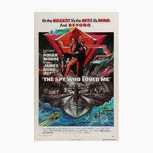 Poster vintage originale del film La spia che mia amava di Bob Peak, 1977