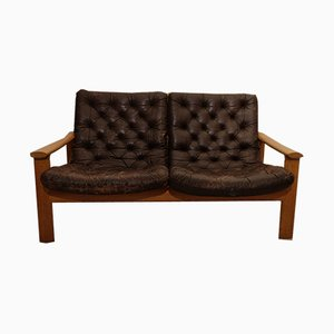 Sofa mit Gestell aus Eiche von Fritz Hansen, 1970er