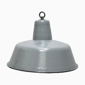 Vintage Industrial Gray Enamel Pendant