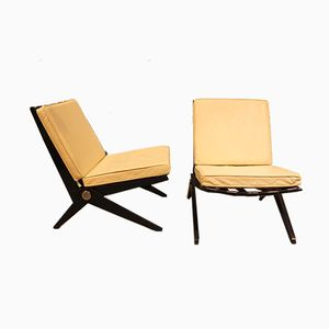 Scissor Chairs by Pierre Jeanneret for Knoll Inc, 1950s, Set of 2