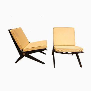Scissor Sessel von Pierre Jeanneret für Knoll Inc, 1950er, 2er Set