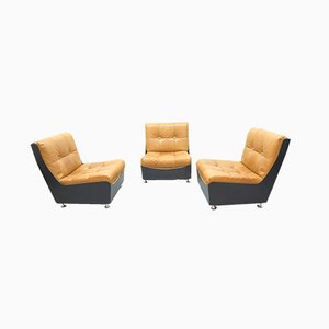 Fiberglass Lounge Sofa Element, 1970s, Set of 3