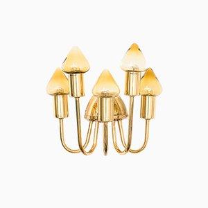 Lampada da parete V-354/5 in ottone di Hans-Agne Jakobsson, anni '60