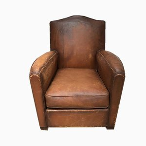 Leather Club Armchair, 1950s