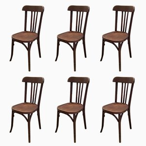 Vintage Bistro Chairs from Baumann, 1920s, Set of 6