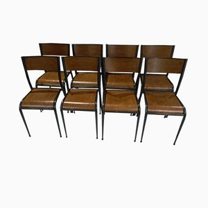 Vintage Model 510 Stackable Chairs from Mullca, 1960s, Set of 8