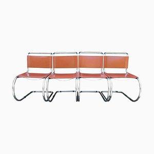 Sillas de comedor Cantilever MR en marrón de Ludwig Mies van der Rohe, años 60. Juego de 4