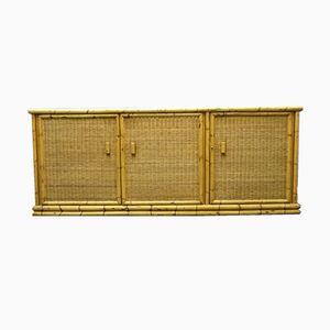 Enfilade Vintage en Rotin et Bambou de Arco