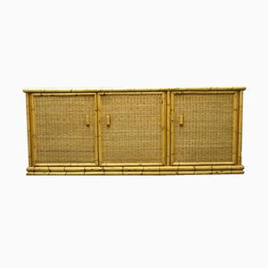 Vintage Rattan & Bamboo Sideboard from Arco