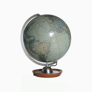 Vintage Illuminated Globe from JRO Globus, 1963