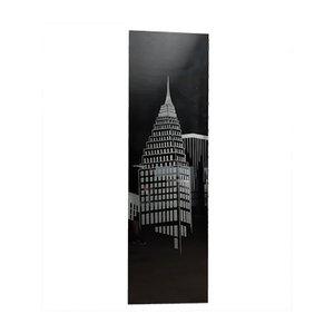 Große Skyscraper Lampe aus geschliffenem Glas & Aluminium, 1980er