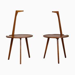 tavolini modello Cicognino TN6 di Franco Albini per Poggi, prima serie, Set di 2