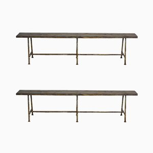 Mid-Century French Workbenches, 1950s, Set of 2