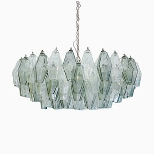 Lámpara de araña modelo Poliedri de Carlo Scarpa para Venini, años 60