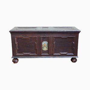 19th Century Lacquered & Painted Chest