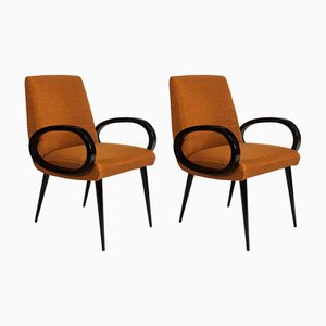 Mid-Century French Bridge Armchairs, 1950s, Set of 2