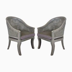 Chaises Vintage en Joncs, 1930s, Set de 2