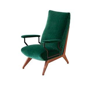 Italian Green Armchair, 1950s
