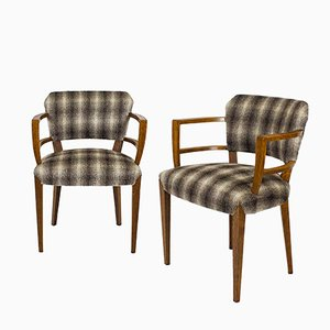 Spanish Bridge or Desk Armchairs, 1920s, Set of 2