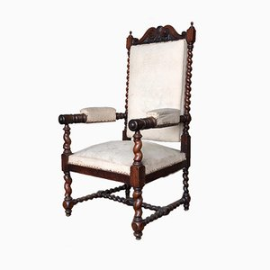 Antique Solid Rosewood Armchair, 1850