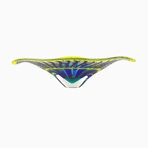 Murano Glass Reticello Bowl by Valter Rossi