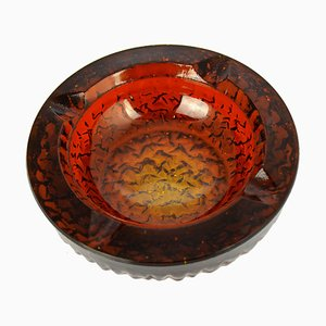 Glass Ashtray by Rudolf Jurnikl for Rudolfova Sklarna, 1960s
