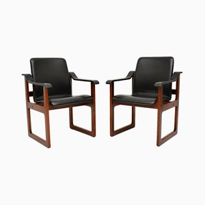 Vintage Danish Armchairs, Set of 2