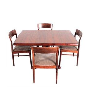 Set da pranzo Mid-Century di Kai Kristiansen per Korup Stolefa