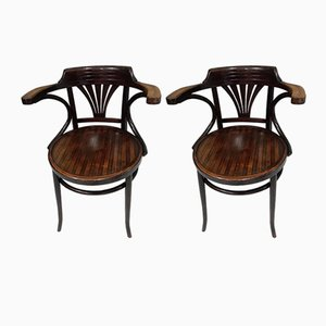 Bistro Chairs from Baumann, 1920s, Set of 2