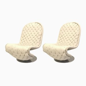 Vintage Lounge Chairs By Verner Panton for Fritz Hansen, 1970s, Set of 2