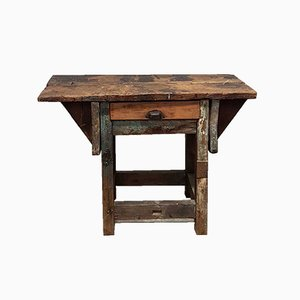 Vintage Pine Primitive Workbench