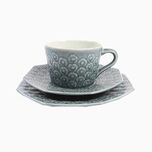 Azurblaues dänisches Vintage Kaffee- oder Teeservice von Jens H. Quistgaard für Kronjyden